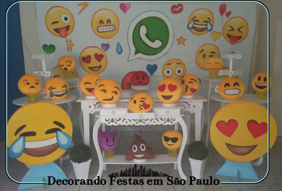 Decoraç u00e3o Festa Emotions Emoji no Elo7 Decorando Festas em S u00e3o Paulo (6CBBF5) -> Decoração De Festa Tema Emoji