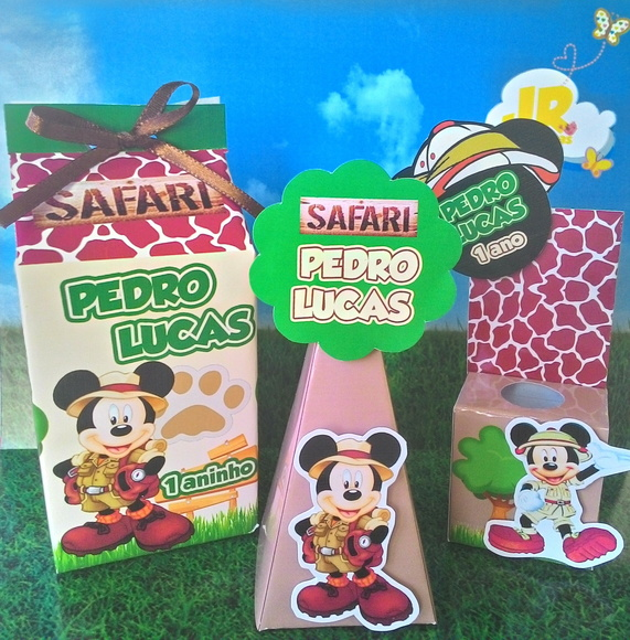 Kit Personalizados Mickey Safari