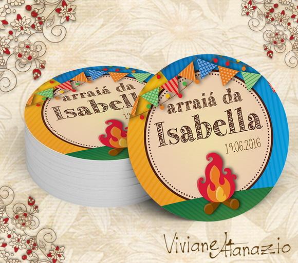 Armario Aberto Banheiro ~ Adesivo Redondo Festa Junina 00333 no Elo7 Viviane Atanazio (6E4E61)