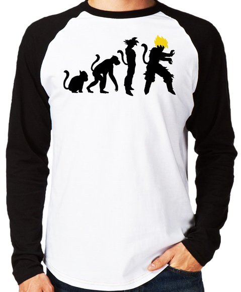 Camiseta Raglan Dragon Ball #2 Evolução