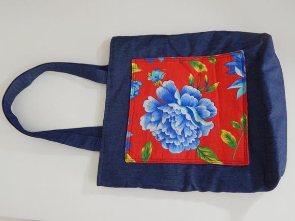 Bolsa De Pano Artesanato : Bolsa sacola arte em pano artesanato elo