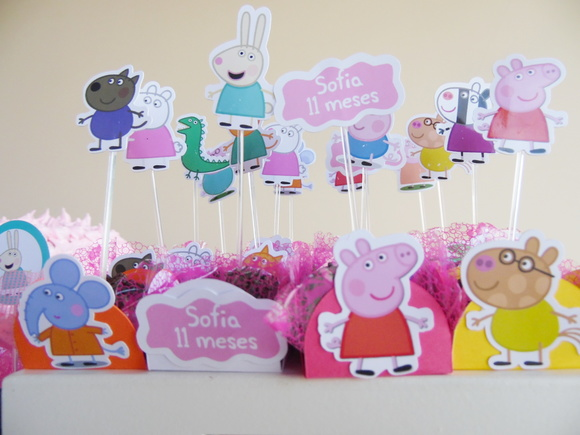 Kit forminha Topper Peppa Pig