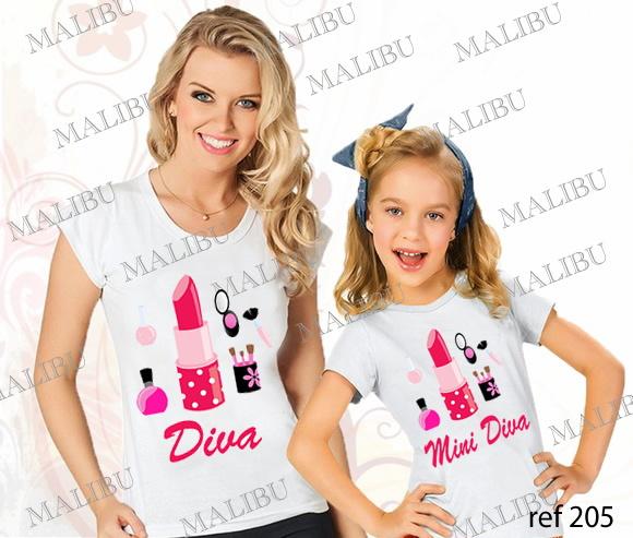 71d7ba1a6 Tal Mãe Tal Filha Diva Mini Diva Batom no Elo7   MALIBU TEES (6F05EB)