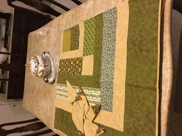 Toalha de Mesa de Patch-Work e Quilte