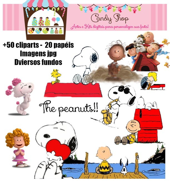 Kit Scrapbook Digital Snoopy