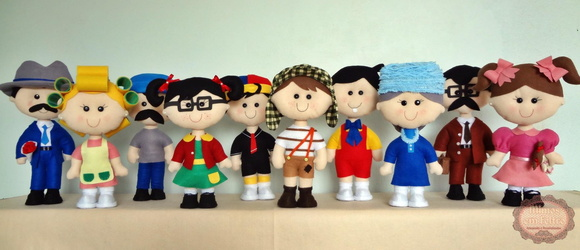 Turma do Chaves - Feltro