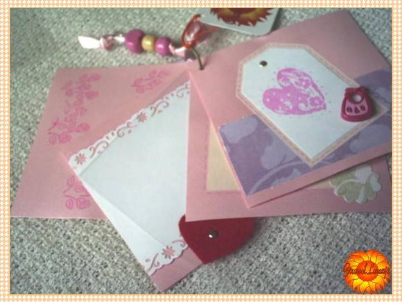 MINI-ÁLBUM SCRAPBOOK baby rosa