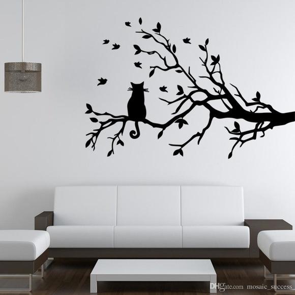 Artesanato Facil Rapido E Lucrativo ~ Árvore Gato Adesivo no Elo7 Aarte Decoor (71D5FA)