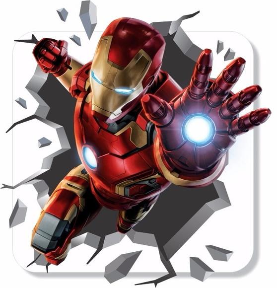 Adesivo Parede Homem De Ferro 3d Mundo Do Adesivo Elo7