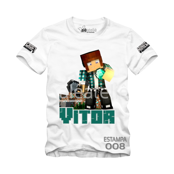 Camisa Minecraft Personalizada Authentic Games