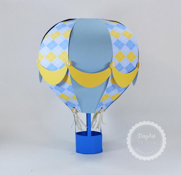 Enfeite De Balão ~ Bal u00e3o de ar quente 3d no Elo7 Day Art Design (72C343)