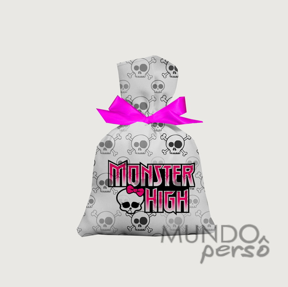 Saquinho Monster High 15cm x 20cm