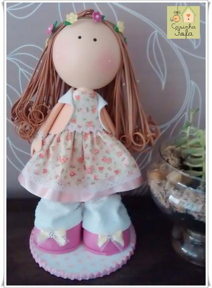 Boneca Russa com tiara - FRETE GRÁTIS*
