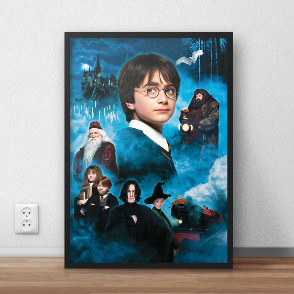 Quadro decorativo Harry Potter com moldura e vidro