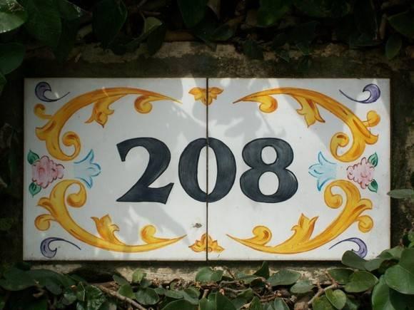 Numero para casa em azulejo oficina 778 elo7 for Azulejo numero casa