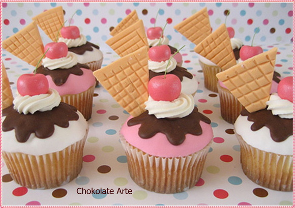 Mini cupcake Sorvete