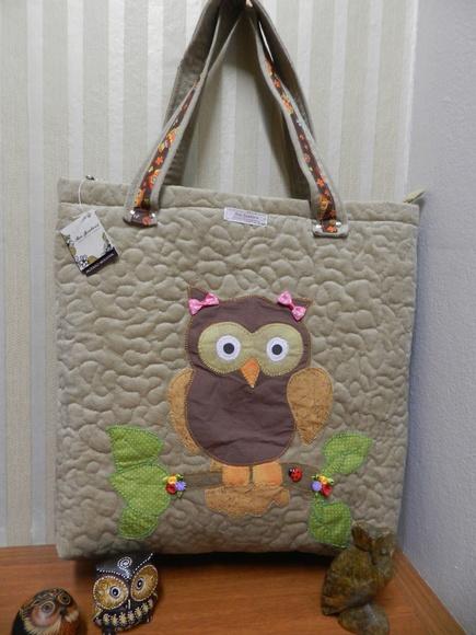 Bolsa patchwork estilo sacola corujinha no elo7 ana - Estilo patchwork ...