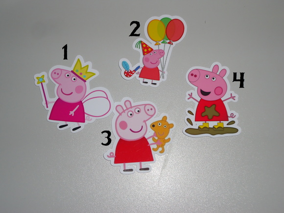 APLIQUE/TOPPER PEPPA PIG
