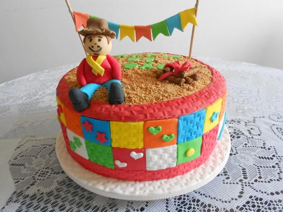 Enfeite De Torta ~ Bolo Colorido Elo7