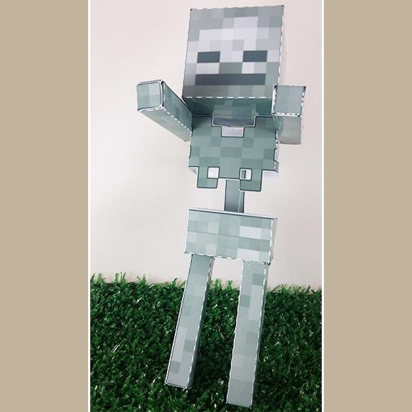 esqueleto minecraft em papercraft no elo7 drika design 75e824