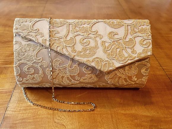 Bolsa Dourada Infantil : Bolsa clutch festa renda dourada ref bolsas
