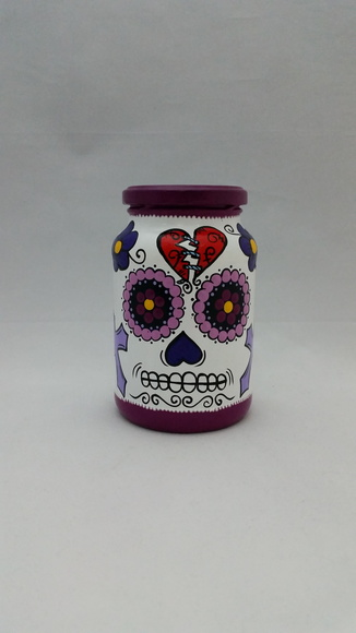 Pote Decorativo Caveira Mexicana