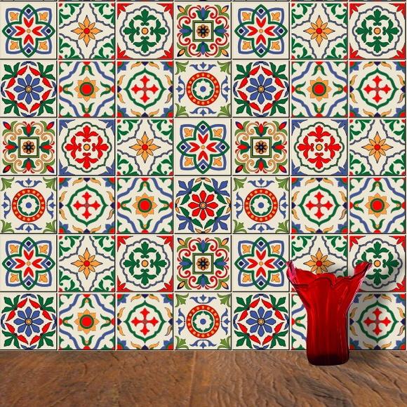 Adesivo azulejos portugueses elo7 for Azulejos de ceramica