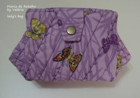 Lady's Bag by Valéria (purple butterfly)