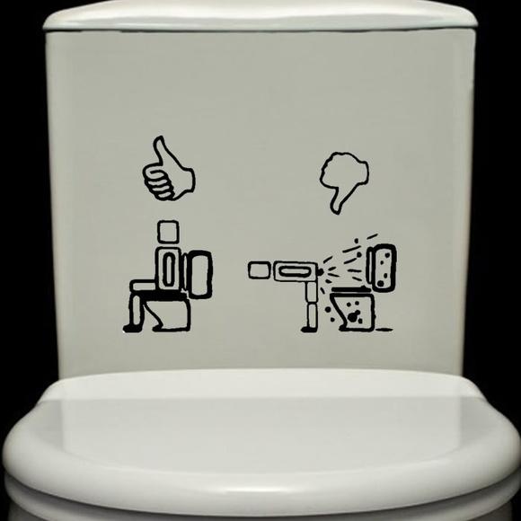 Adesivo Banheiro Vaso Sanitário Aviso no Elo7 LD Creativity Store (7895B1)