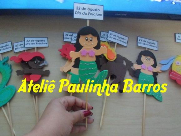 Painel Dia Do Folclore: Palitoche Dia Do Folclore No Elo7