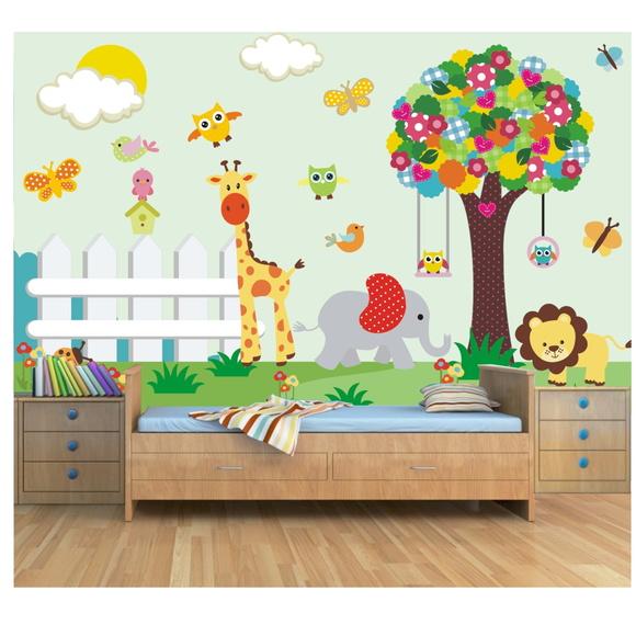 Papel de parede safari infantil elo7 - Papel para pared infantil ...