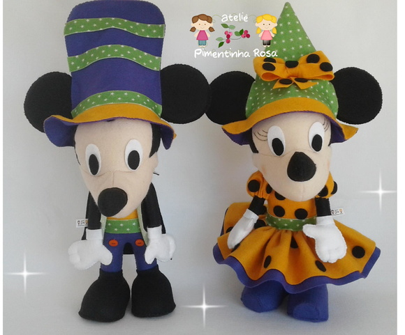 Kit mickey e minnie hallowen