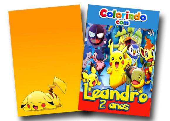 Revista colorir Pokemon go 14x10