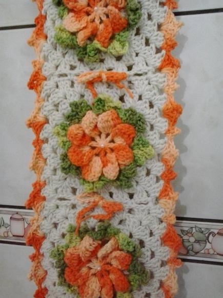Porta papel higi nico flores croch no elo7 croch for Accesorio para papel higienico