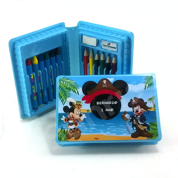 Mini estojo de pintura Mickey Pirata