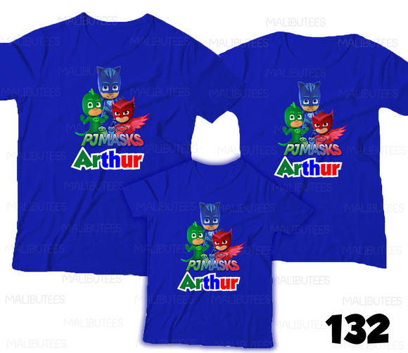 Camiseta PJMASKS Aniversario kit c/3