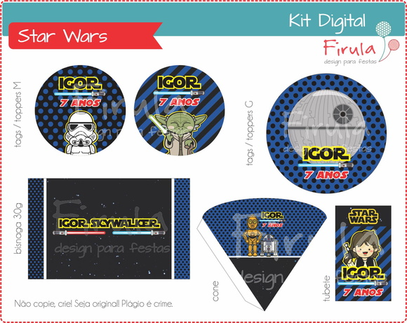 Kit Festa Digital Star Wars