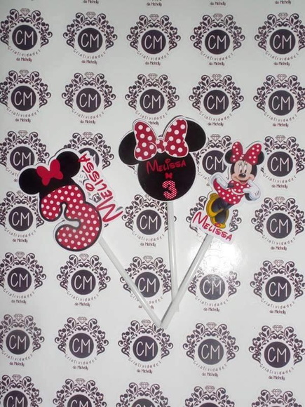 Toppers de Cupcake Minnie