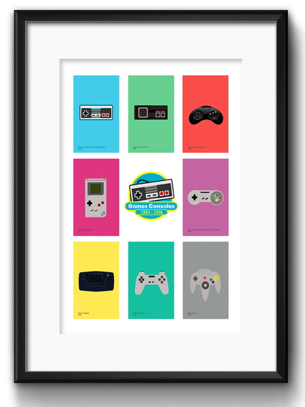 Quadro Controles Game Retro com Paspatur