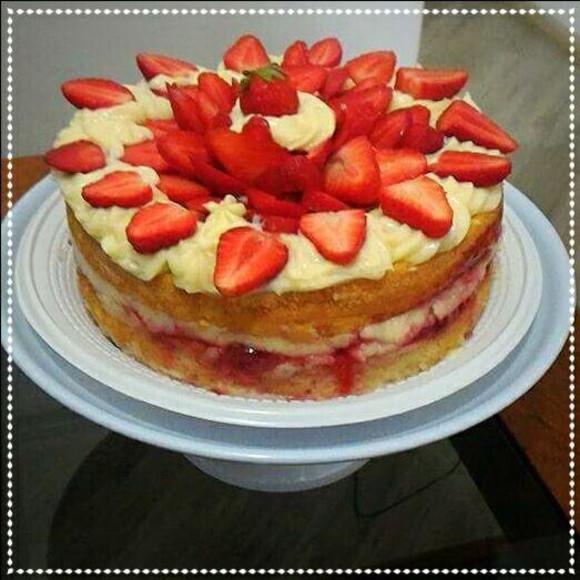 Recanto com Tempero: Naked cake de chocolate e frutos
