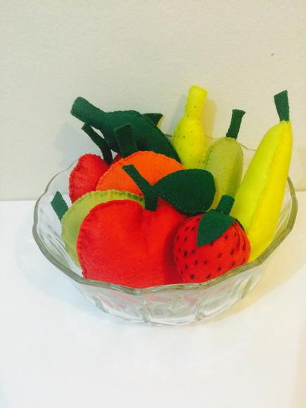 Enfeite De Frutas ~ Enfeite de mesa frutas em feltro Tia Taninha Elo7
