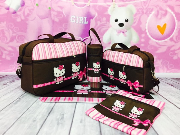 Bolsa beb maternidade hello kitty no elo7 bbbag bolsa - Decoration hello kitty chambre bebe ...
