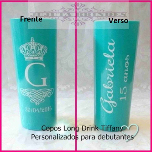 Copos long drink Debutante Tiffany