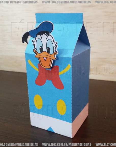 Milk Box Pato Donalds - Turma do Mickey