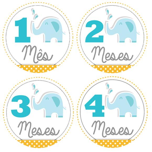 Artesanato Madeira Passo A Passo ~ Adesivos M u00eas a M u00eas para Mesversário Beb u00ea no Elo7 Estudio Regali (7FC360)
