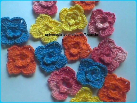 Mini Flores em Crochê no Elo7  5fa6aea15a9f6