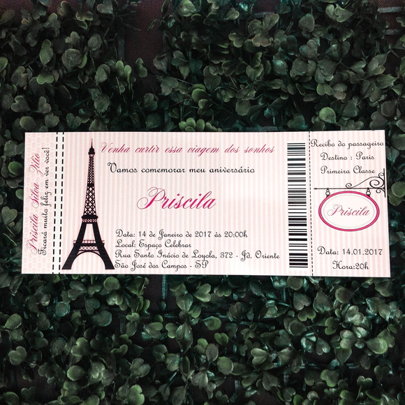 Convite Paris Ticket
