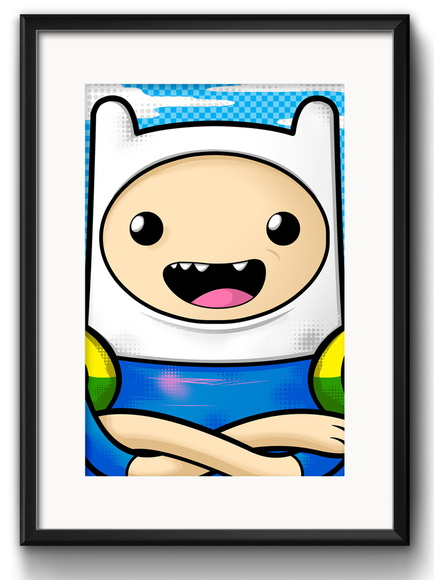 Quadro Finn Pop Art com Paspatur