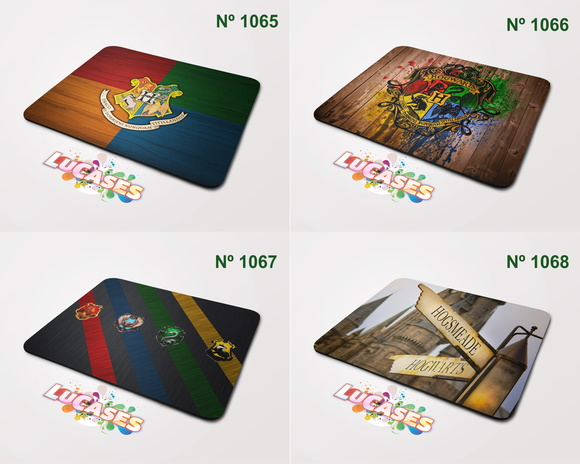 Mouse Pad Harry Potter Hogwarts Casas