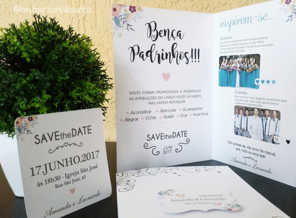 Manual Padrinhos + Save the Date c/ imã